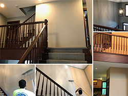 interior painting stairwell